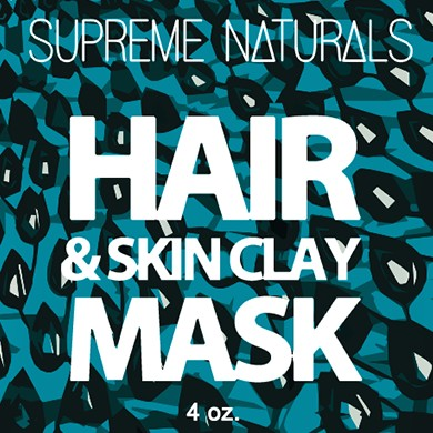 Supreme Natural's Hair & Skin Clay Mask 4oz