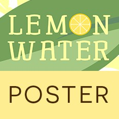 Lemon Water Did You Know Poster