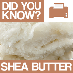 Shea Butter : Did You Know? Poster