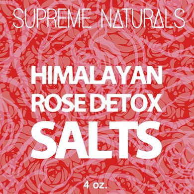 Supreme Natural's Himalayan Rose Detox Bath Salts 4oz