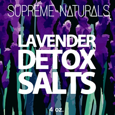 Supreme Natural's Lavender Detox Bath Salts 4oz